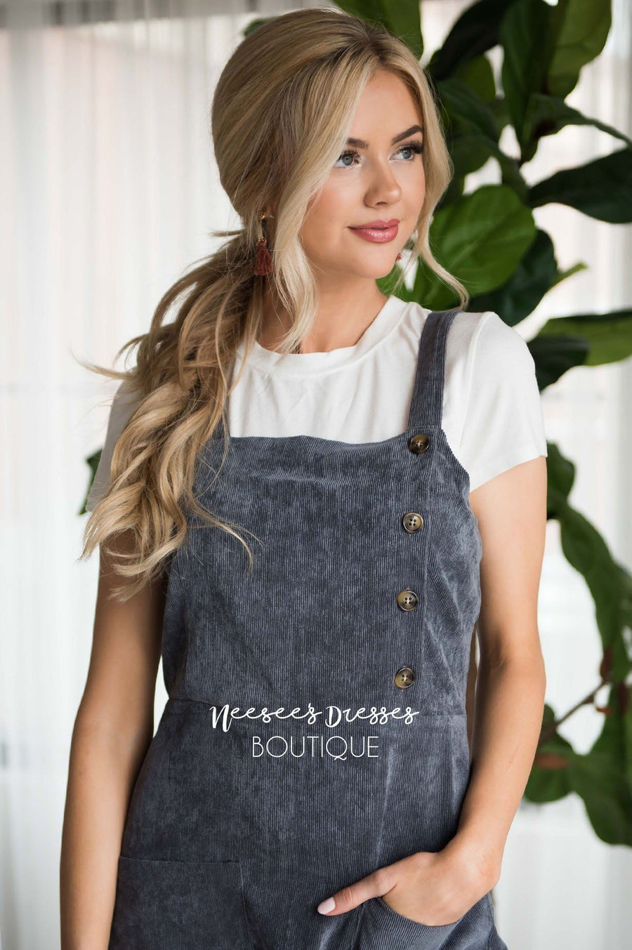 The Lennon Corduroy Overall Dress