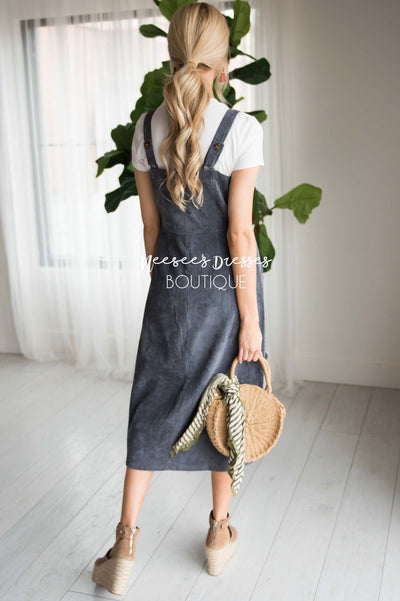 The Lennon Corduroy Overall Dress Modest Dresses vendor-unknown