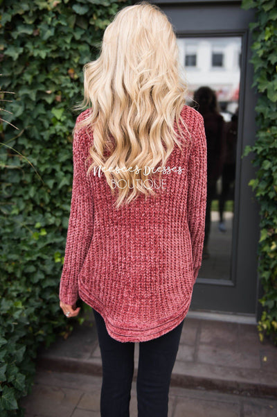 Cozy Fireside Chenille Sweater Modest Dresses vendor-unknown