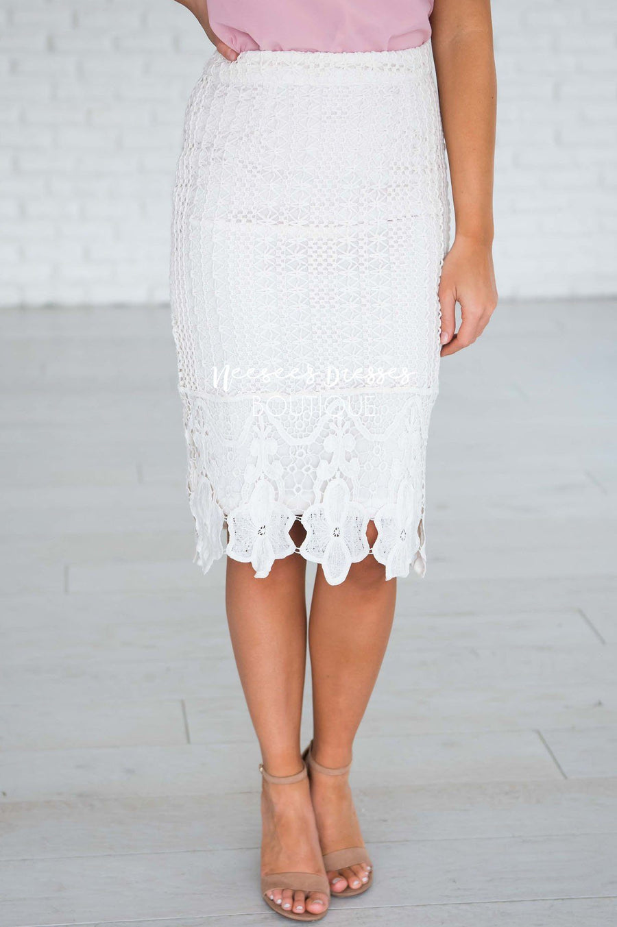 Lydia Lace Pencil Skirt