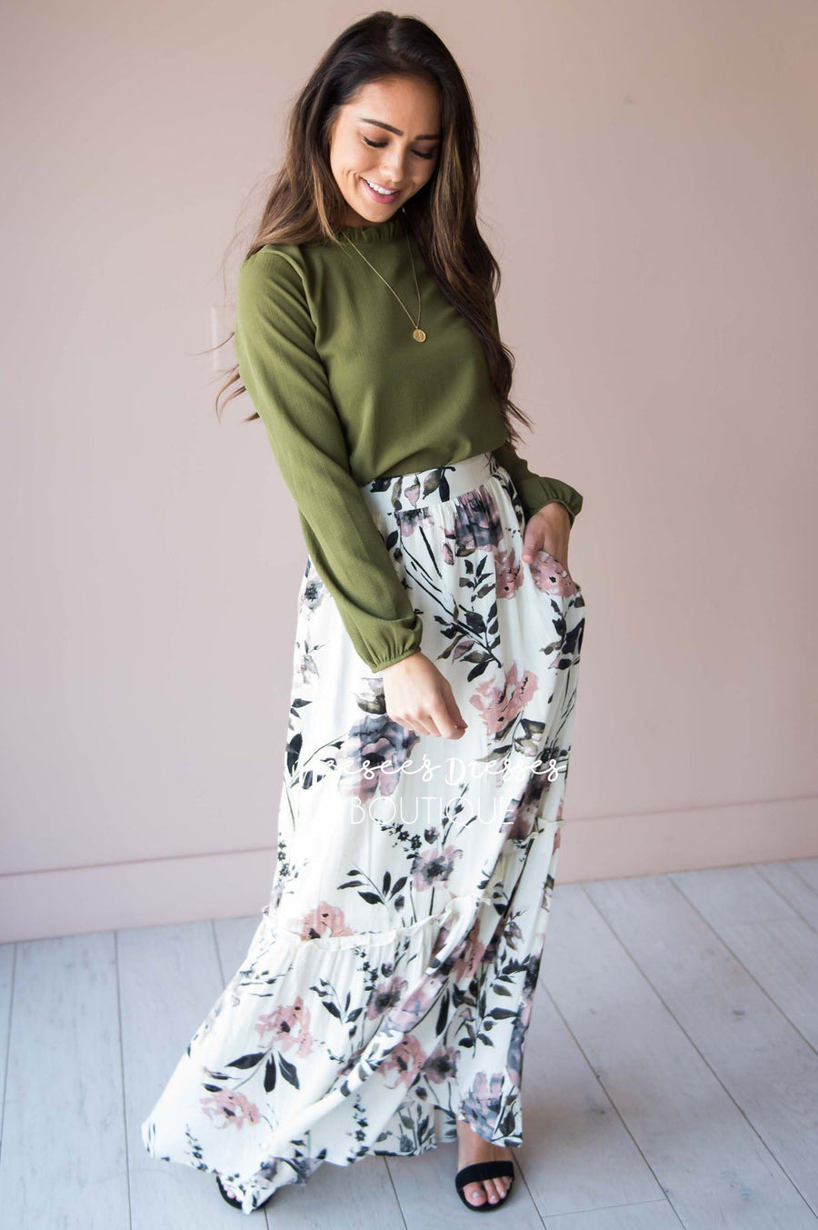 Ready for the Day Floral Skirt