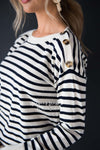 Let's Sail Away Striped Sweater Modest Dresses vendor-unknown