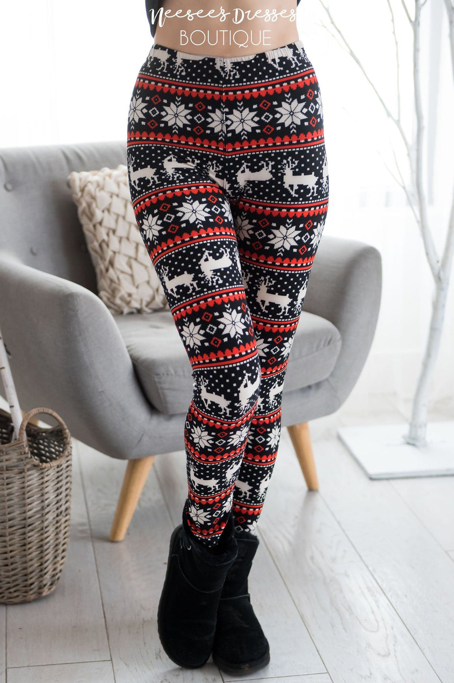 Dancer Prancer Vixen Christmas Leggings Accessories & Shoes vendor-unknown