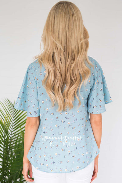 Forever Yours Floral Blouse Modest Dresses vendor-unknown