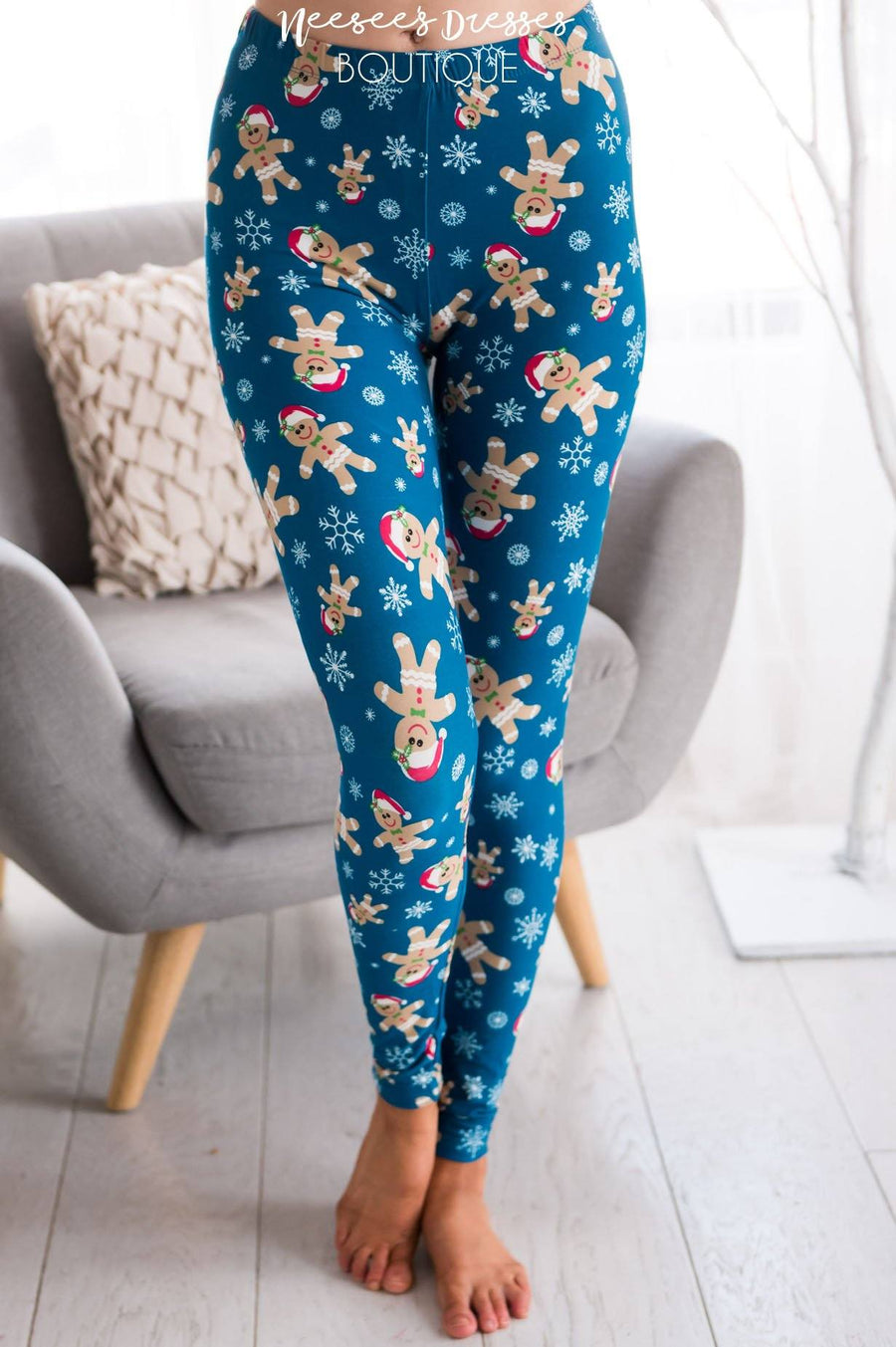 Gingerbread Man Christmas Leggings Accessories & Shoes vendor-unknown