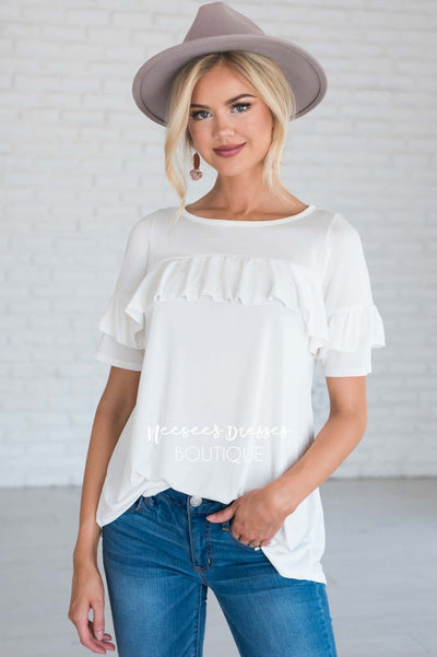 Grateful Heart Ruffle Top Tops vendor-unknown