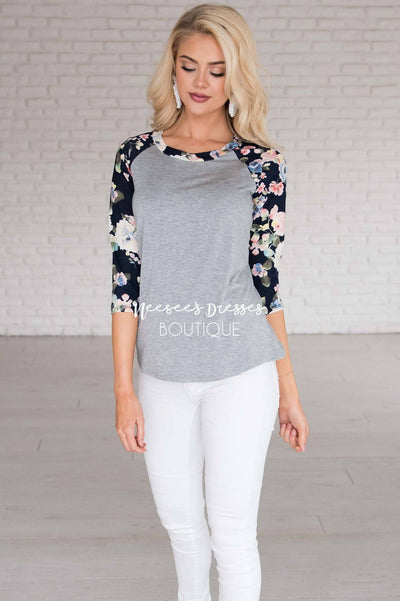 Cozy Nights Baseball Tee Modest Dresses vendor-unknown