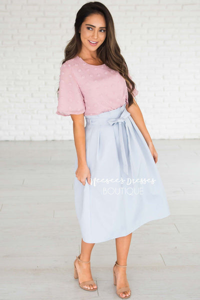 Pretty Ruffle Tie Waist Skirt Skirts vendor-unknown