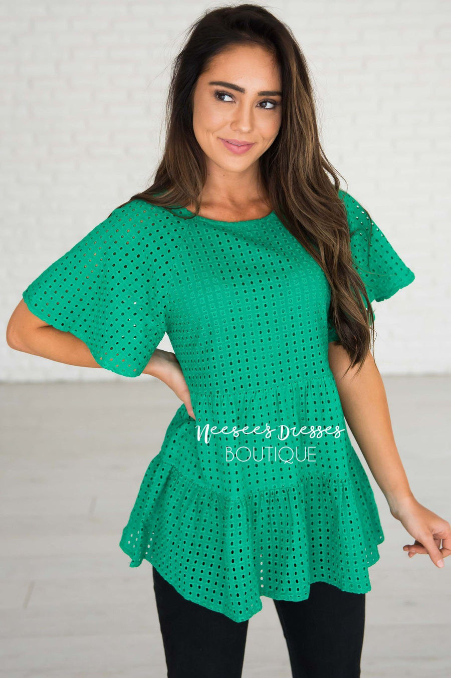 Escape The Ordinary Eyelet Top