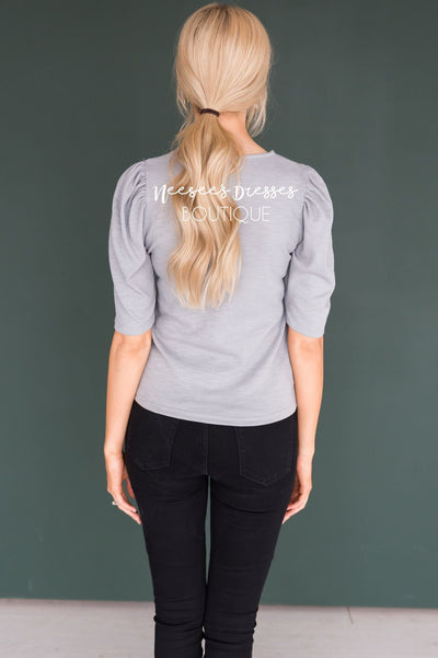 Meant to Be Puff Sleeve Top Tops vendor-unknown