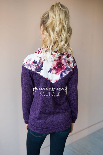 Humble and Honest Floral Hoodie Modest Dresses vendor-unknown