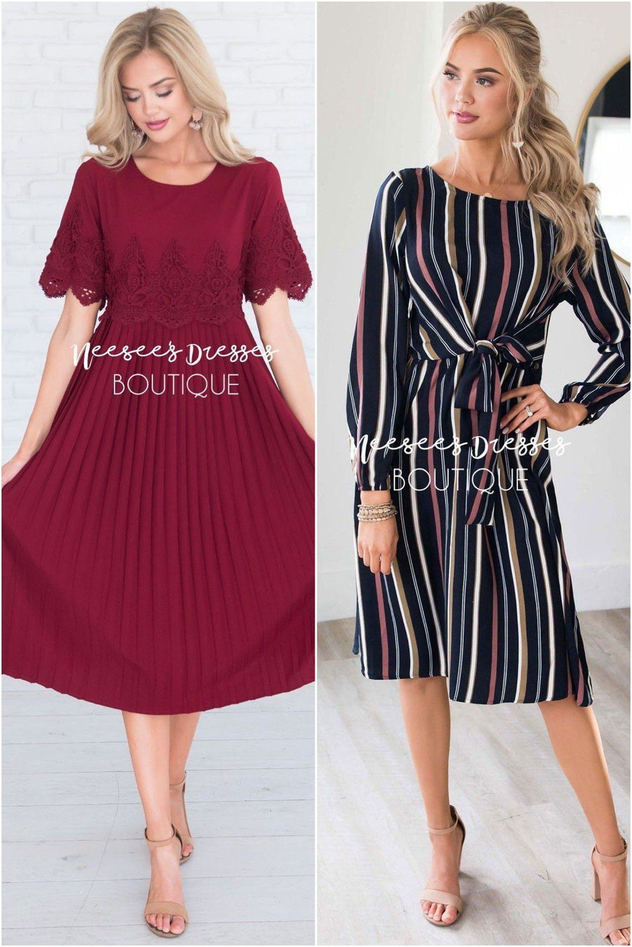 Two Dresses for $34.99 Modest Dresses vendor-unknown