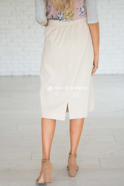 It's Never Too Late Two Pocket Skirt Modest Dresses vendor-unknown