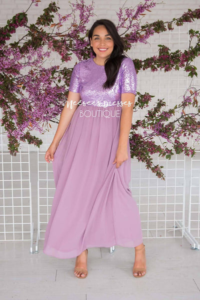 The Elsa in Lilac Modest Dresses vendor-unknown