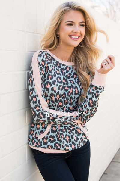 Wild At Heart Leopard Sweater Modest Dresses vendor-unknown