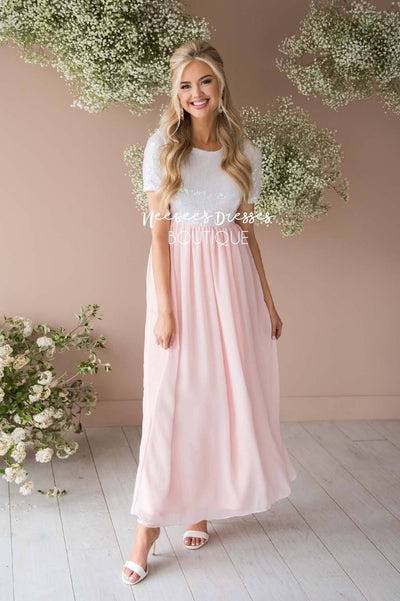 The Elsa in Baby Pink Modest Dresses vendor-unknown