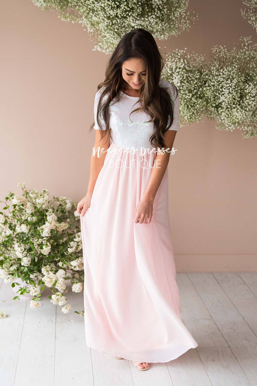 1acd754d2ba7 The Elsa in Baby Pink Modest Dresses vendor-unknown