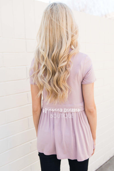 Sweet As Honey Baby Doll Top Modest Dresses vendor-unknown