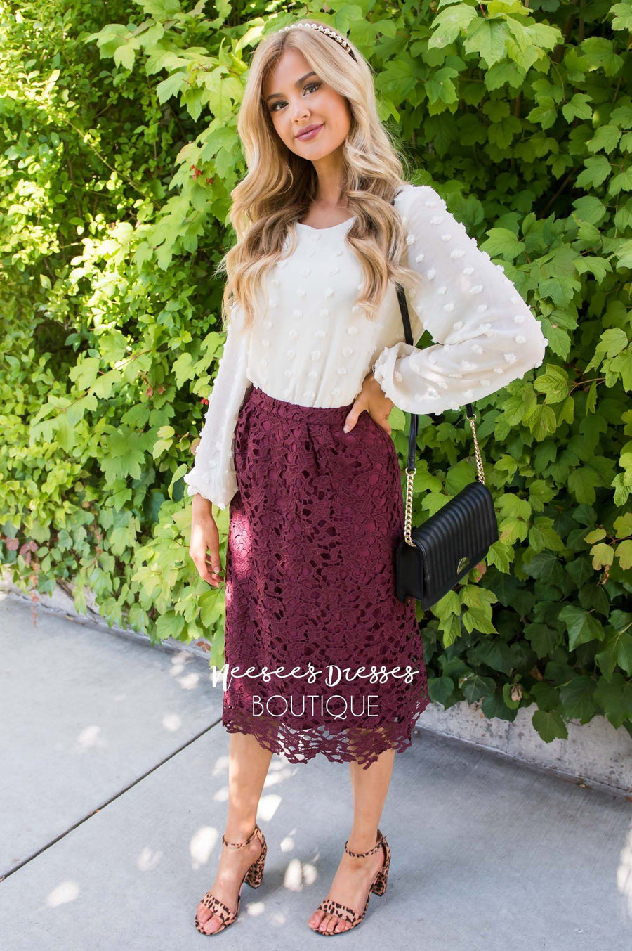 Lovely in Lace Skirt Modest Dresses vendor-unknown