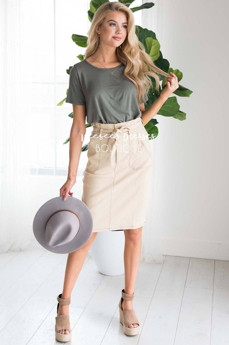 Bare Necessities Midi Tie Skirt