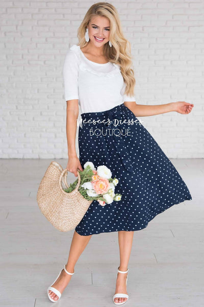Wildest Dreams Polka Dot Skirt Modest Dresses vendor-unknown