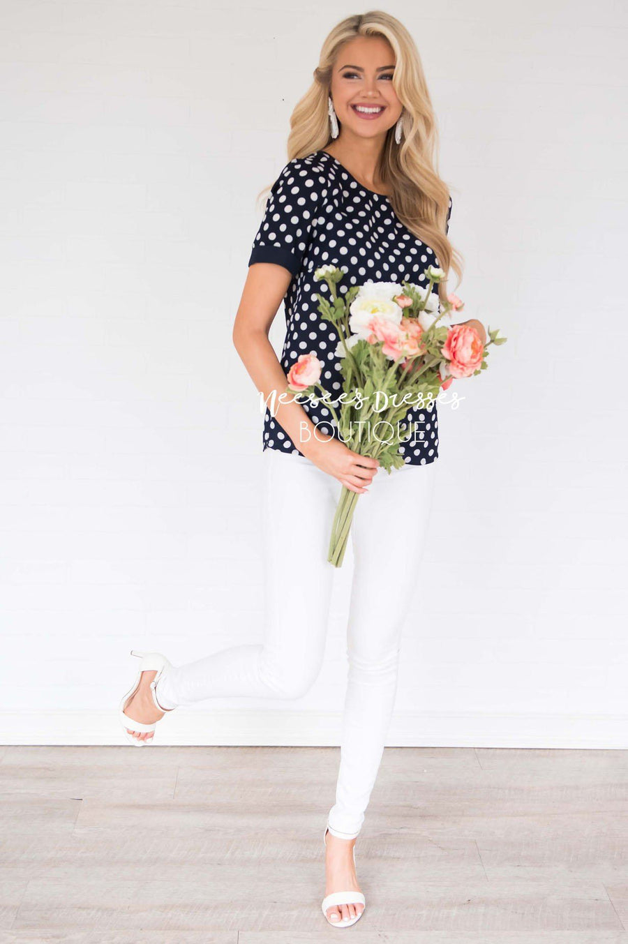 Little By Little Polka Dot Blouse
