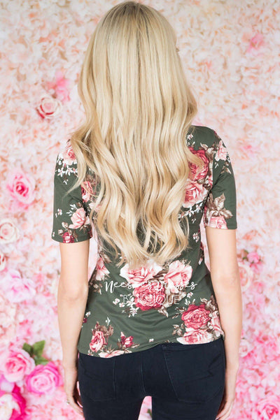 Make It Sweet Floral Scoop Neck Top Tops vendor-unknown