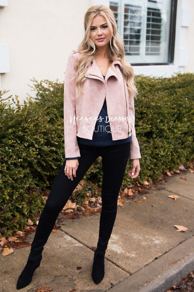 Pretty in Pink Moto Jacket Tops vendor-unknown