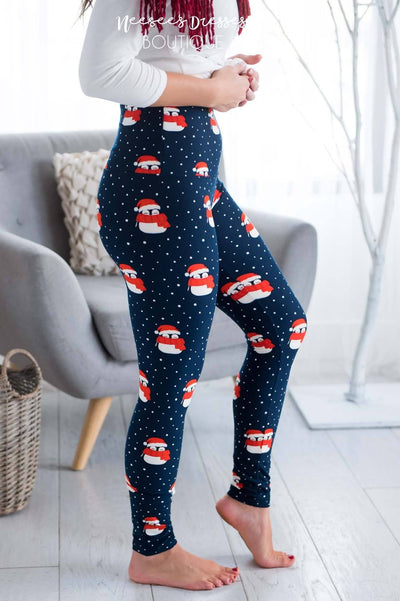 Penguin Cutie Christmas Leggings Accessories & Shoes vendor-unknown
