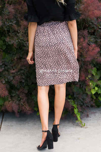 Sweet Obsession Leopard Skirt Modest Dresses vendor-unknown