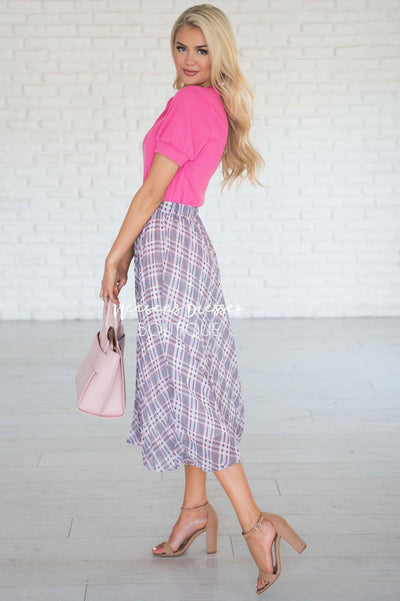 Weekend Wishes Pleated Skirt Modest Dresses vendor-unknown
