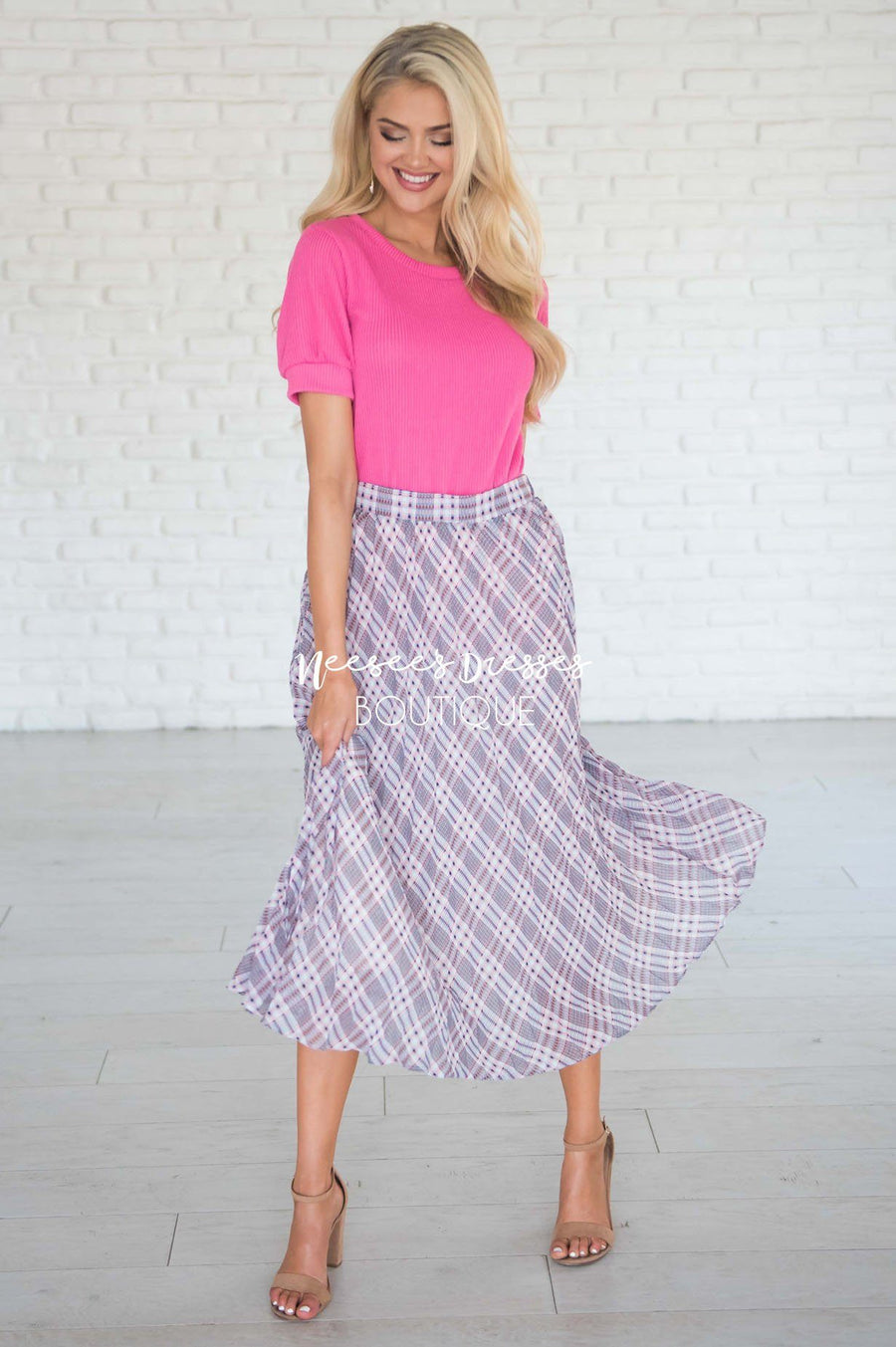 Weekend Wishes Pleated Skirt