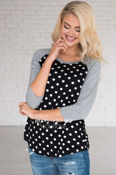 Connect The Dots Baseball Tee Modest Dresses vendor-unknown
