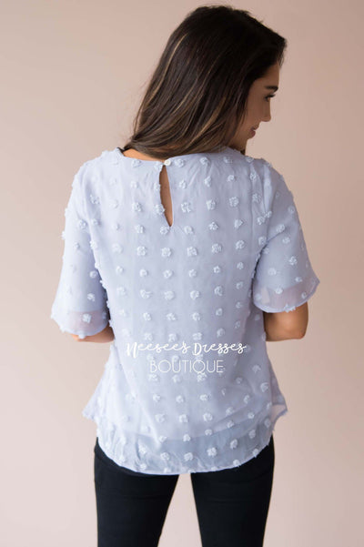 Stunning Swiss Dot Blouse Tops vendor-unknown