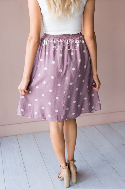 Classic Polka Dots Modest Skirt Skirts vendor-unknown