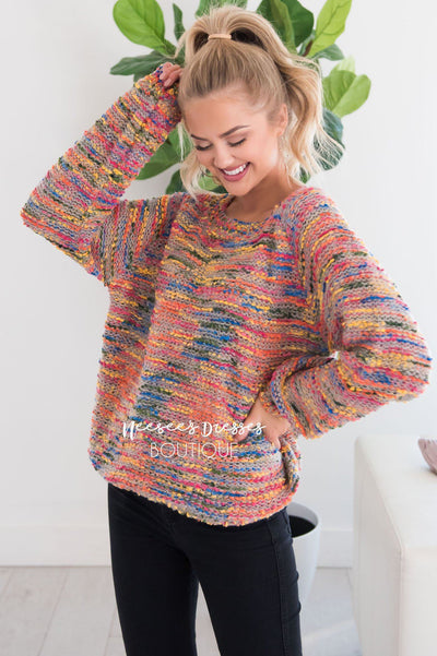 Everything Nice Colorful Sweater Modest Dresses vendor-unknown