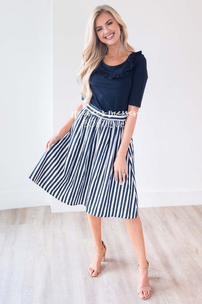 Plan On This Love Striped Skirt Skirts vendor-unknown