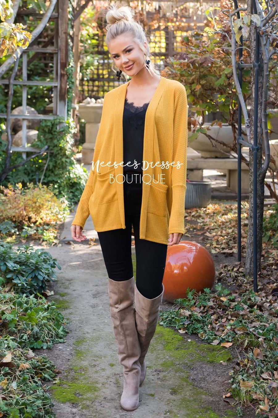 Shine Bright Thermal Cardigan Tops vendor-unknown