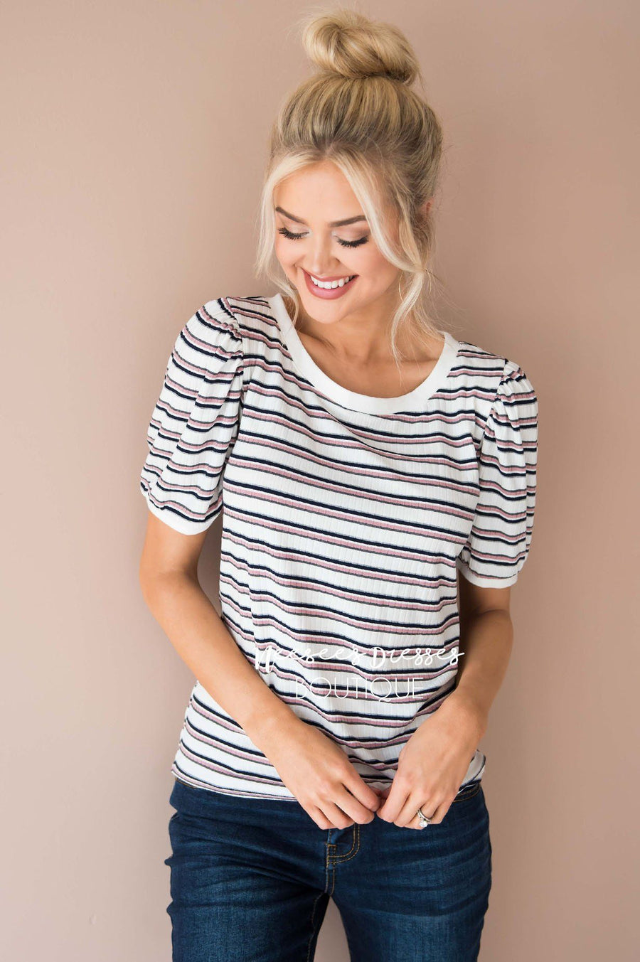Stories To Tell Striped Top