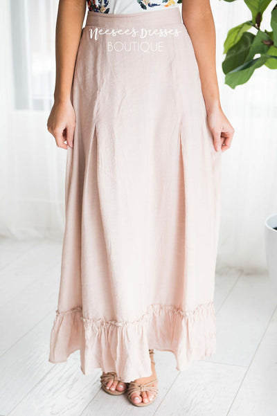 Ruffle Hem Maxi skirt Modest Dresses vendor-unknown