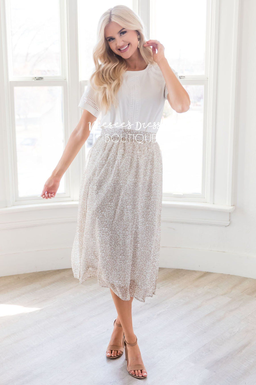 Spring is All Around Chiffon Skirt