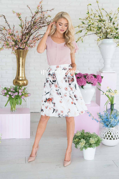 Adore Me Floral Skirt Modest Dresses vendor-unknown