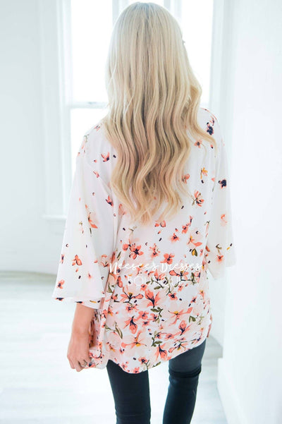 Living In A Dream Floral Cardigan Modest Dresses vendor-unknown
