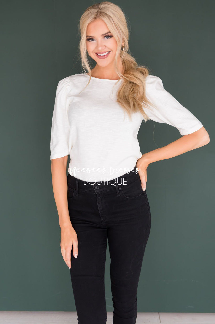 Meant to Be Puff Sleeve Top