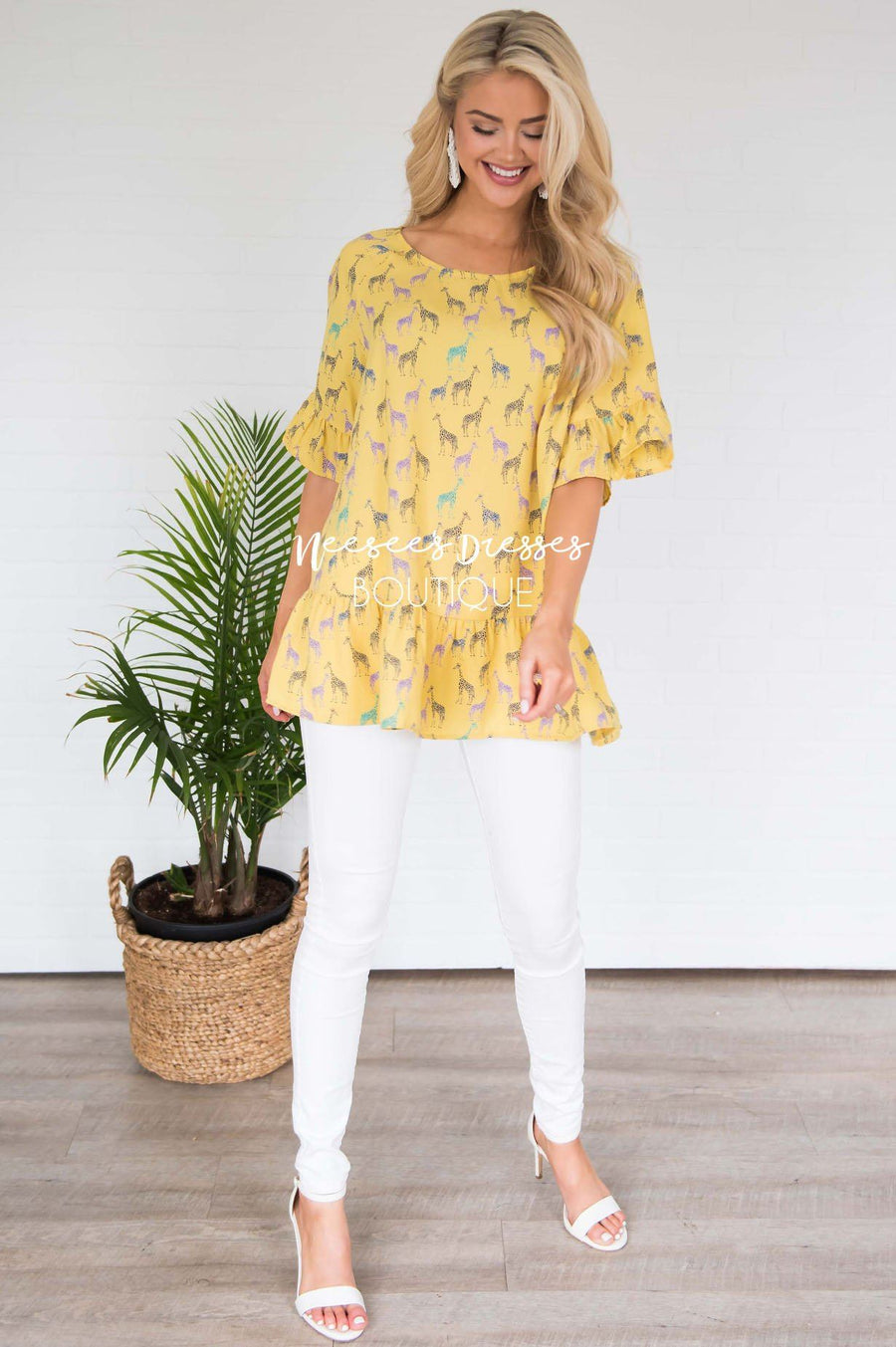 You Are My Sunshine Peplum Blouse
