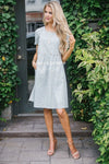 The Martha Modest Dresses vendor-unknown S Soft Sage & White Gingham Print