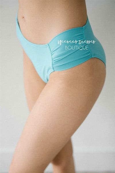 Summer Vacay Swim Bottoms Modest Swim vendor-unknown Teal Lagoon XS
