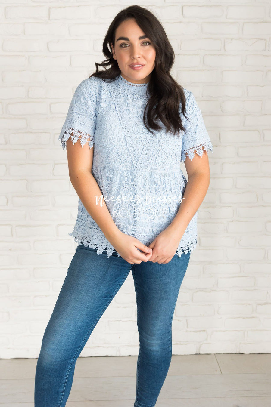 A Lot of Lace Modest Blouse