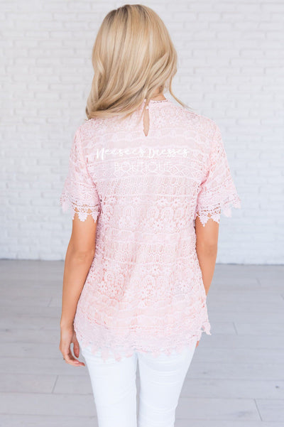 A Lot of Lace Modest Blouse Tops vendor-unknown