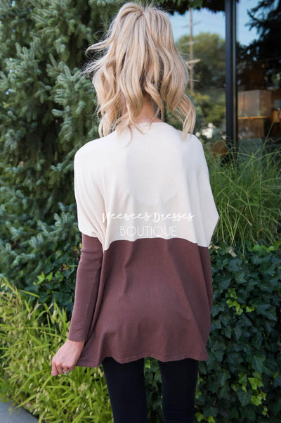 A Walk in the Park Block Sweater Modest Dresses vendor-unknown